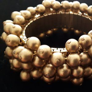 Gold Stretch Bracelet Vintage 1980's